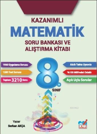 8.Sınıf 2017 Kazanımlı Matematik Soru Bankası ve Alıştırma Kitabı