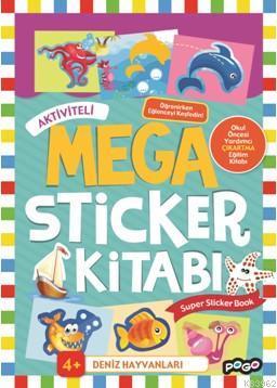 Aktiviteli Mega Sticker Kitabı; Deniz Hayvanları