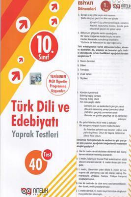 Nitelik - 10. Sınıf Türk Dili Ve Edebiyatı Yaprak Test *Yeni* 2019
