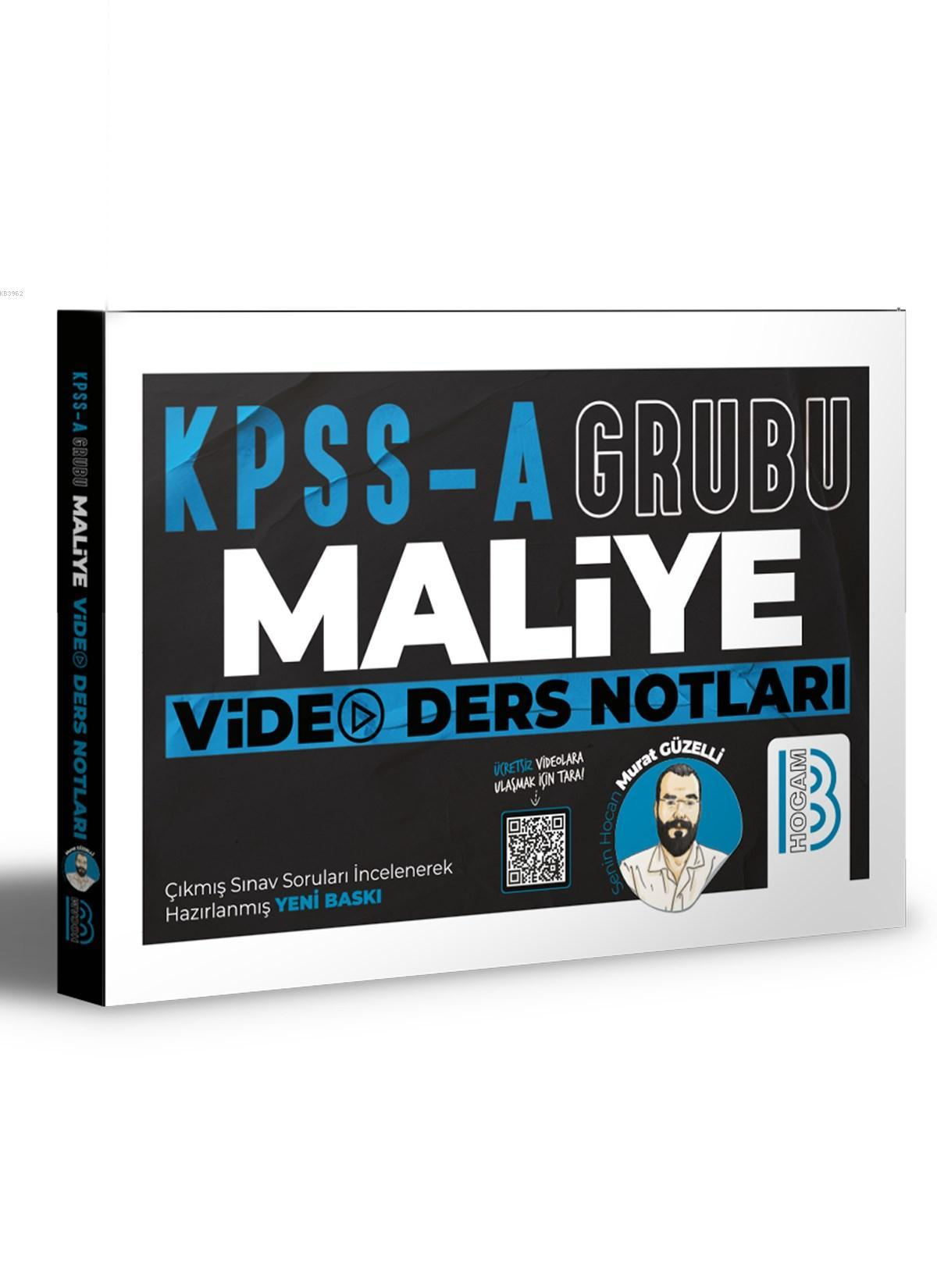 KPSS A Maliye Video Ders Notları Benim Hocam Yayınları