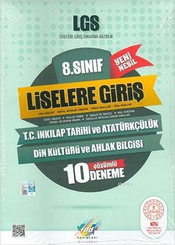 FDD Yayınları 8. Sınıf LGS T.C. İnkılap Tarihi ve Atatürkçülük Din Kültürü ve Ahlak Bilgisi Çözümlü 10 Deneme FDD