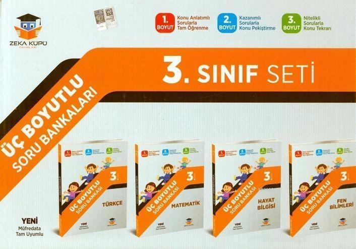 Zeka Küpü Yayınları 3. Sınıf Tüm Dersler Üç Boyutlu Soru Bankası Seti Zeka Küpü