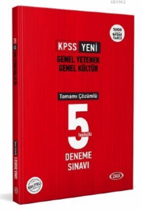 KPSS Genel Yetenek Kültür Tamamı Çözümlü 5 Deneme Sınavı