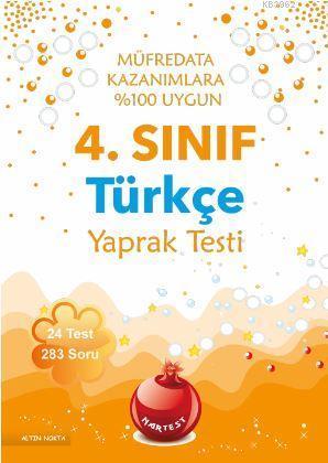 4. Sınıf Türkçe Yaprak Testi