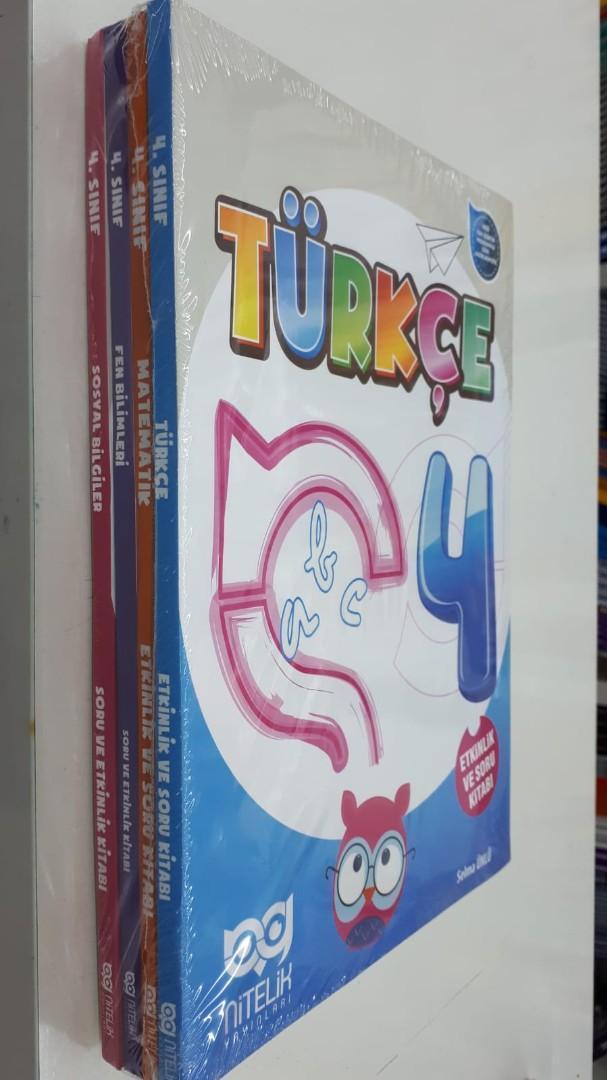 Nitelik Yayınları 4. Sınıf Türkçe Matematik Fen Bilimleri Sosyal Bilgiler Soru Kitabı Seti Nitelik