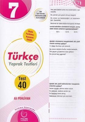 Palme - 7. Sınıf Türkçe Yaprak Test