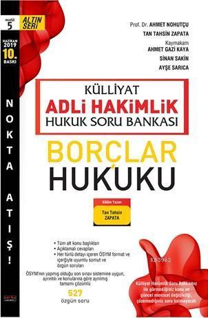 Külliyat Borçlar Hukuku Soru Bankası Adli Hakimlik Savaş Yayınları Haziran 2019