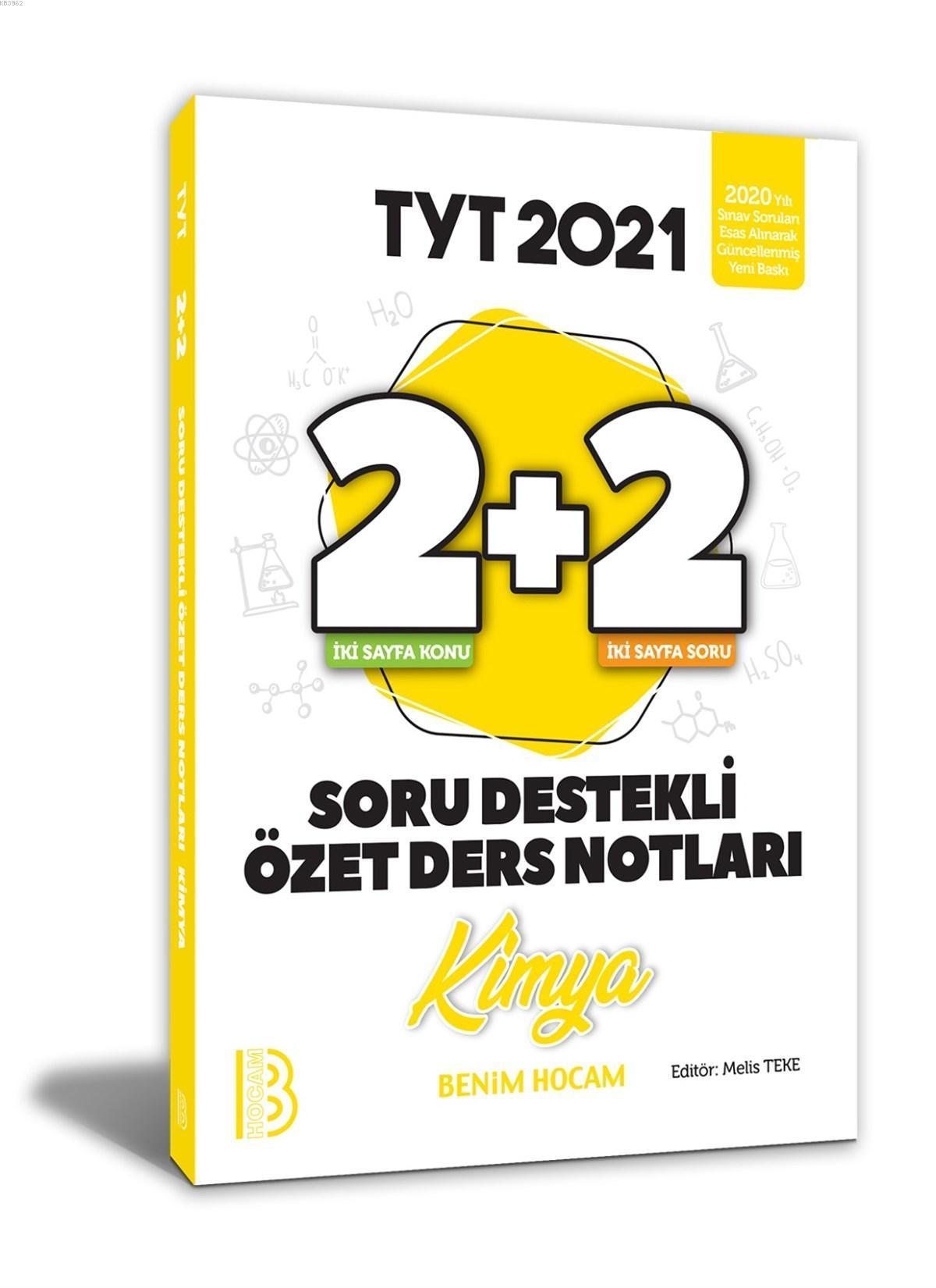 2021 YKS TYT Kimya 2+2 Soru Destekli Özet Ders Notları Benim Hocam Yayınları