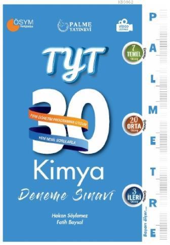 TYT 30 Kimya Deneme Sınavı Palmetre Serisi