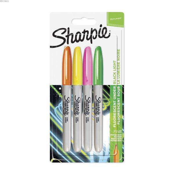 Sharpie Set Permanent Fine 4 Lüneon 1985855