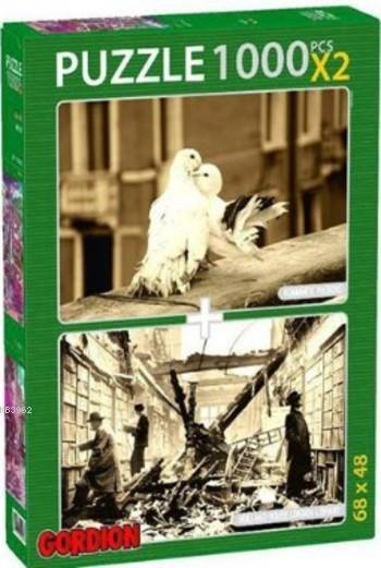 Romantıc Pıgeons London Lıbrar Puzzle Takım; 2X1000 Parça