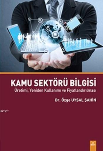 Kamu Sektörü Bilgisi; Üretimi, Yeniden Kullanımı ve Fiyatlandırılması