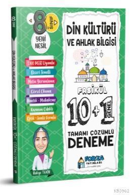 8. Sınıf LGS Din Kültürü ve Ahlak Bilgisi Tamamı Çözümlü Fasikül 10 Branş 1 Genel Deneme