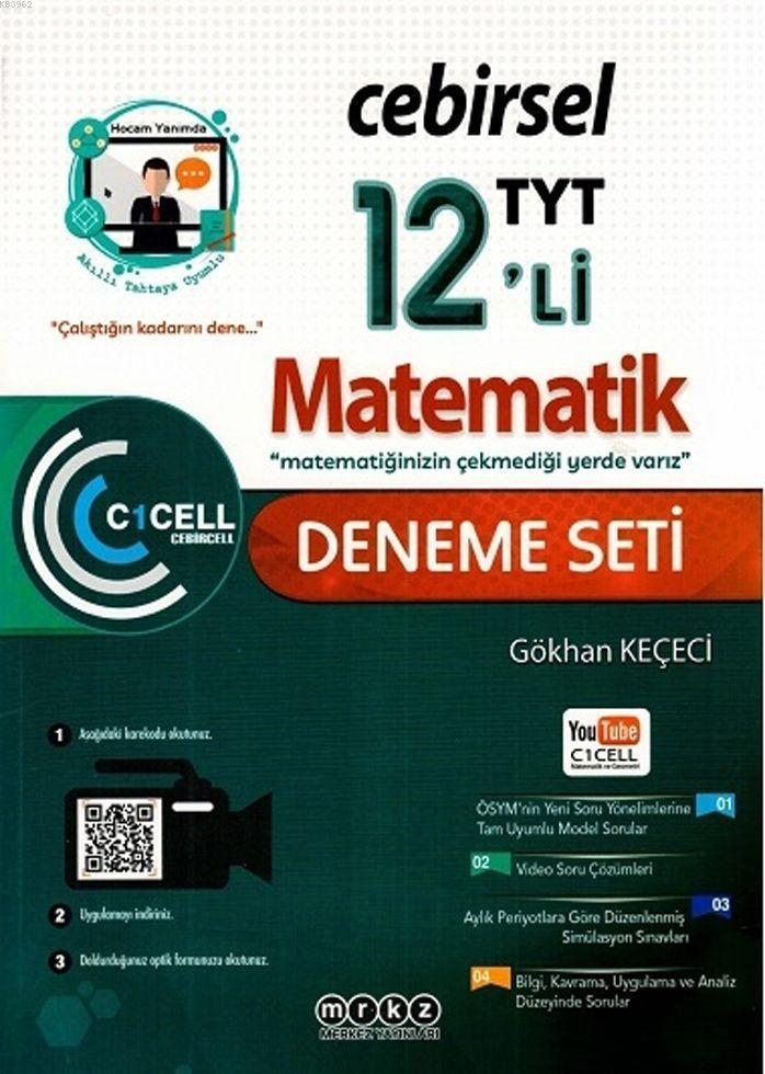 Merkez Yayınları TYT Matematik 12 li Cebirsel Deneme Seti Merkez