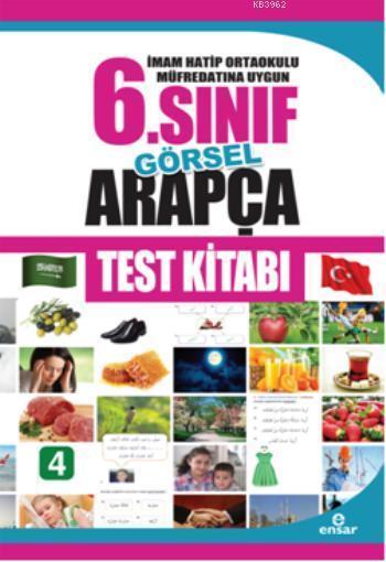 İmam Hatip Ortaokulu Müfredatın Uygun 6. Sınıf Görsel Arapça Test Kitabı