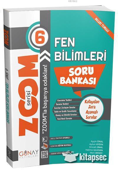 Günay 6.Sınıf Zoom Serisi Fen Bilimleri Soru Bankası
