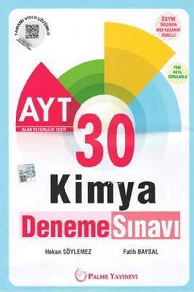 Palme Yayınları AYT Kimya 30 Deneme Palme