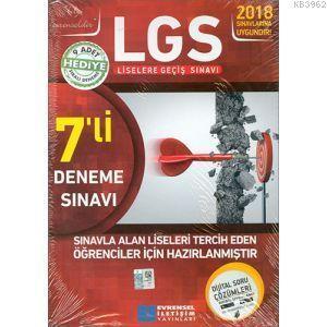 2018 LGS 7'li Deneme Sınavı Video Çözümlü (TEOG 2 Tüm Dersler Sıralı Denemeli Soru Bankası Hediyeli)