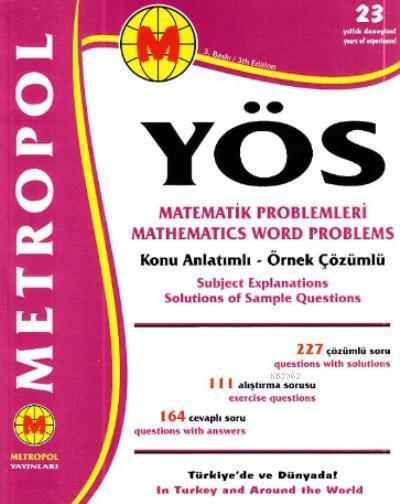 YÖS Matematik Problemleri Konu Açıklamalı Örnek Çözümlü