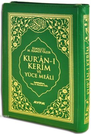 Kur'an-ı Kerim ve Yüce Meali (Ayfa-111, Çanta Boy, Ciltli, 17 Satır)