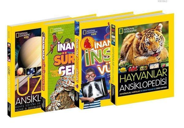 National Geographic Kids Ansiklopedi Seti-4 Kitap Takım