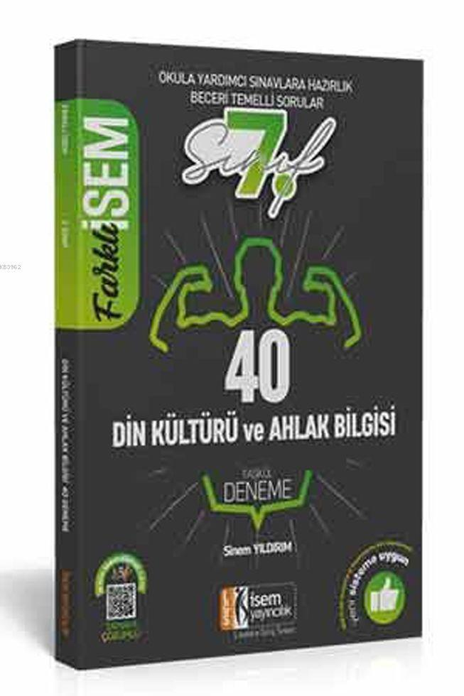 İsem Yayınları 7. Sınıf Din Kültürü ve Ahlak Bilgisi 40 Deneme İsem