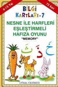 Bilgi Kartları 7 (6-15 Yaş); Nesne ile Harfleri Eşleştirmeli Hafıza Oyunu