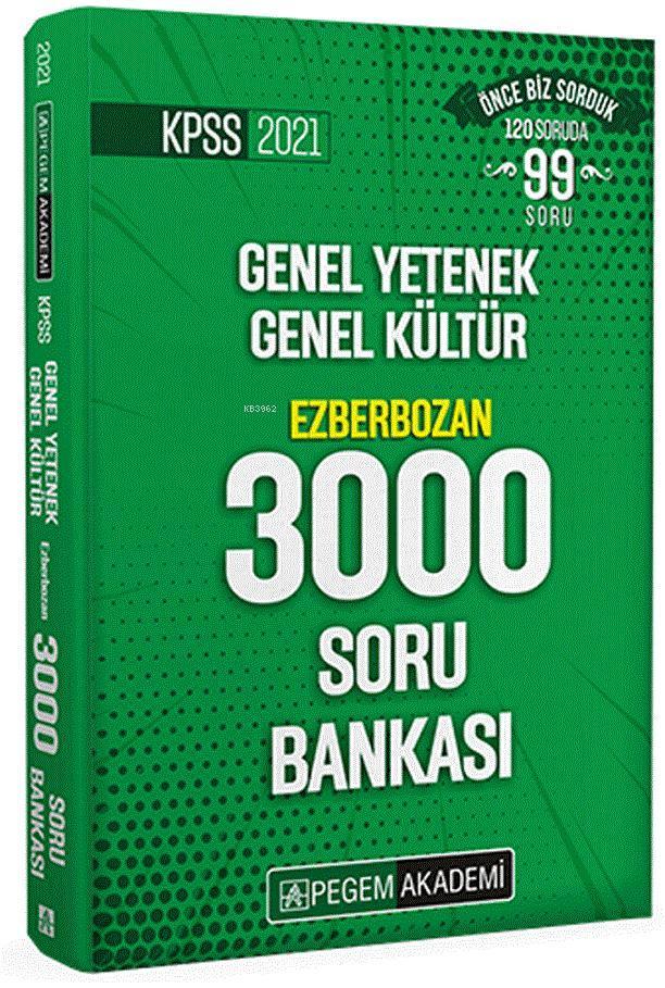 2021 KPSS Genel Yetenek Genel Kültür Ezberbozan 3000 Soru Bankası