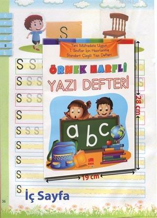 Örnek Harfli Yazı Defteri A4 Ebat Renkli