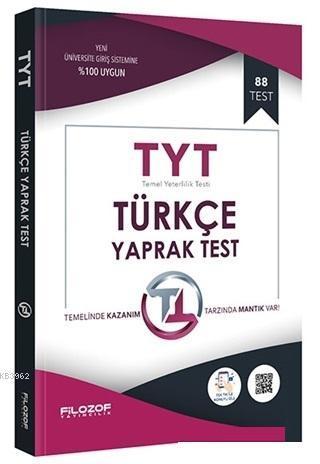 2019 TYT Türkçe Yaprak Test; 88 Test
