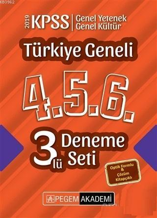 2019 KPSS Türkiye Geneli 4-5-6 3`lü Deneme Seti