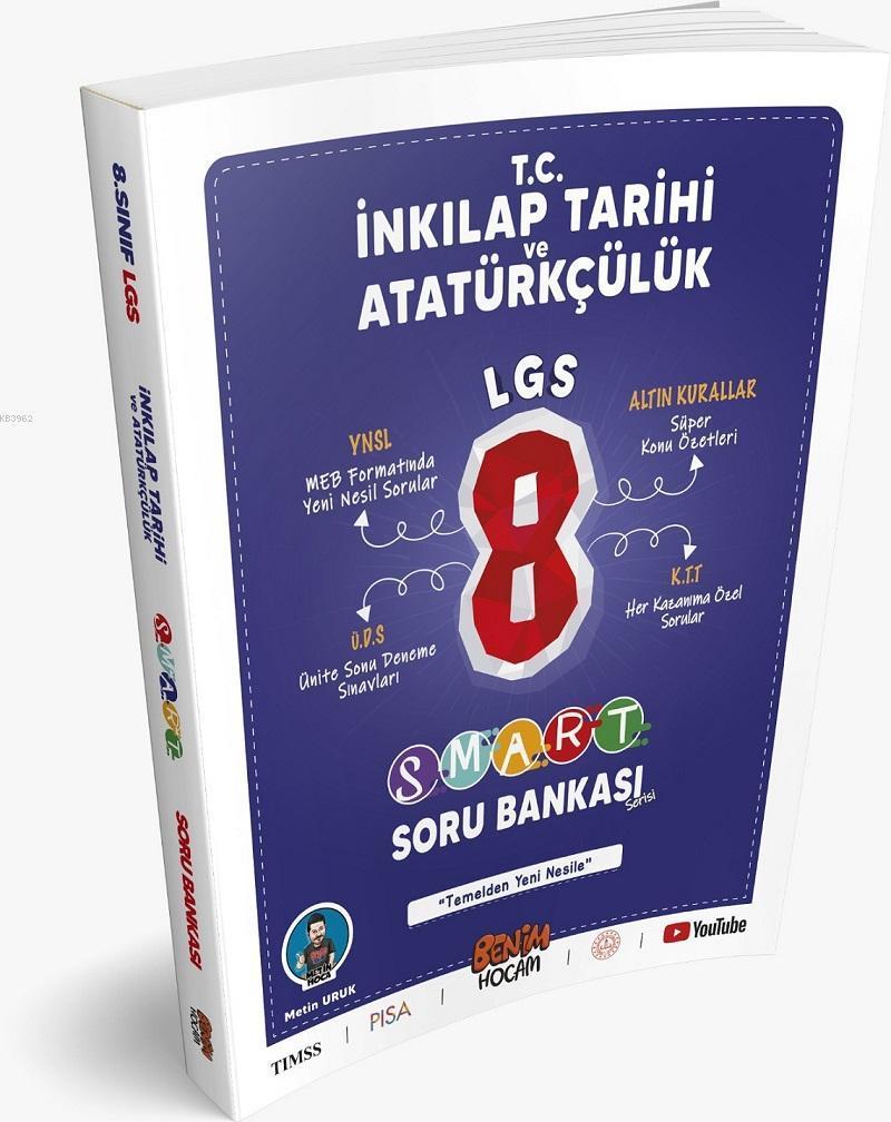 LGS 8.Sınıf Smart Serisi TC. İnkılap Tarihi ve Atatürkçülük Soru Bankası Benim Hocam Yayınları