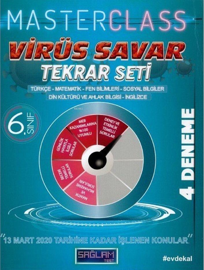Molekül Yayınları 6. Sınıf Virüs Savar Masterclass Tekrar Seti Molekül