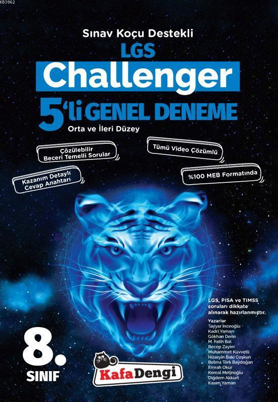 Kafa Dengi Yayınları 8. Sınıf LGS Challenger 5li Deneme Sınavı Kafa Dengi