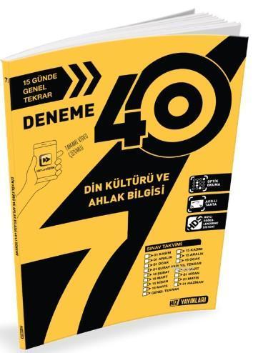Hız Yayınları 7. Sınıf Din Kültürü 40 li Deneme