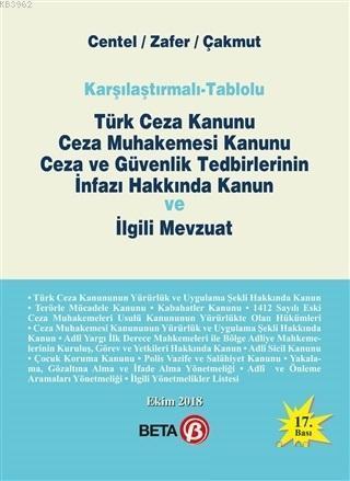Türk Ceza Kanunu Ceza Muhakemesi Kanunu Ceza ve Güvenlik Tedbirlerinin İnfazı Hakkında Kanun ve İl