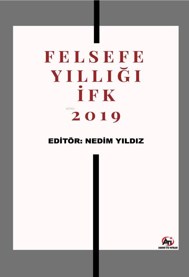 Felsefe Yıllığı İFK 2019