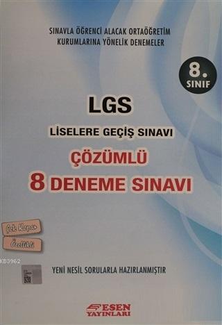 8. Sınıf LGS Çözümlü 8 Deneme Sınavı