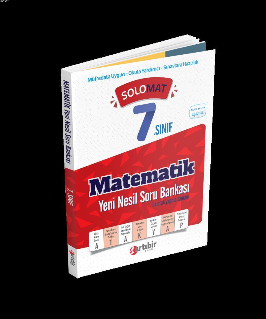 Artıbir Yayınları 7. Sınıf Matematik SoloMat Yeni Nesil Soru Bankası Artıbir