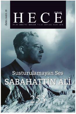 Hece Aylık Edebiyat Dergisi Sabahattin Ali Özel Sayısı Sayı: 35 - 253