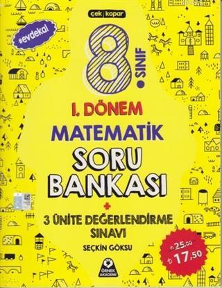 8. Sınıf 1. Dönem Matematik Soru Bankası 3 Ünite Değerlendirme Sınavı