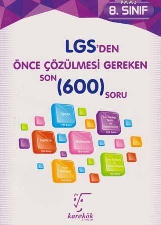 8. Sınıf LGS'den Önce Çözülmesi Gereken 600 Soru