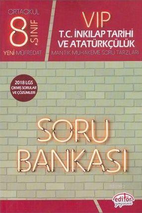 Editör Yayınları 8. Sınıf VİP LGS T.C. İnkılap Tarihi ve Atatürkçülük Soru Bankası