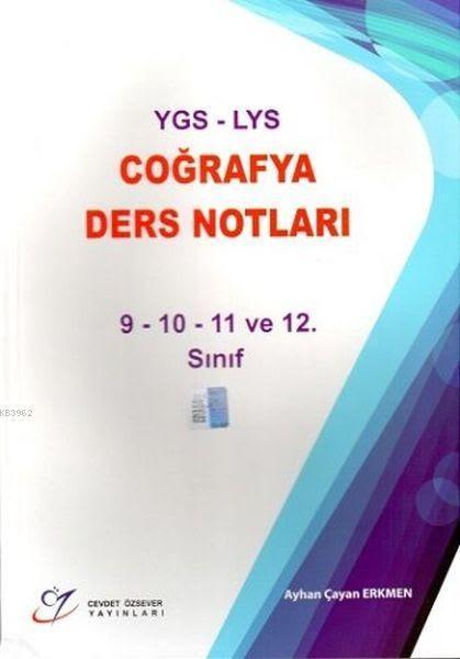 YGS-LYS Coğrafya Ders Notları 9-10-11 ve 12.Sınıf