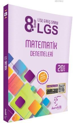 8. Sınıf LGS Matematik Denemeleri 20 Deneme