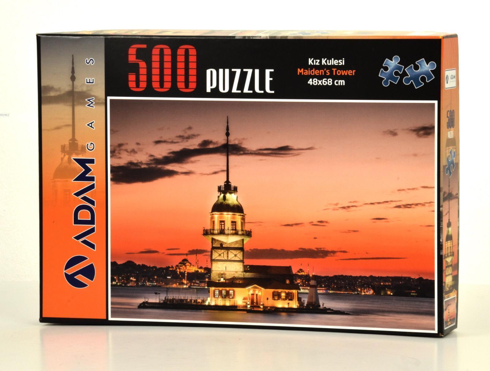 Adam Games Kız Kulesi 500 Parça Puzzle 48x68