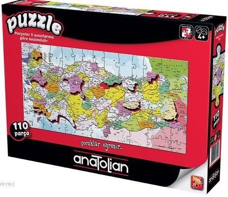 Anatolian Puzzle Türkiye İlleri Haritası 110 Parça
