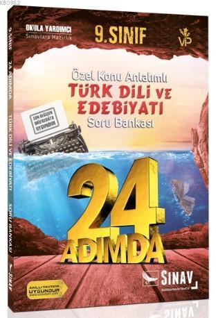 2019 24 Adımda 9. Sınıf Özel Konu Anlatımlı Türk Dili ve Edebiyatı Soru Bankası