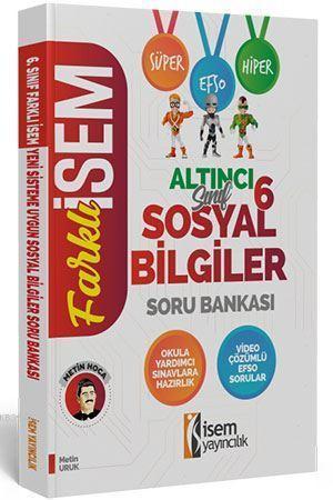 İsem Yayınları 6. Sınıf Sosyal Bilgiler Soru Bankası İsem