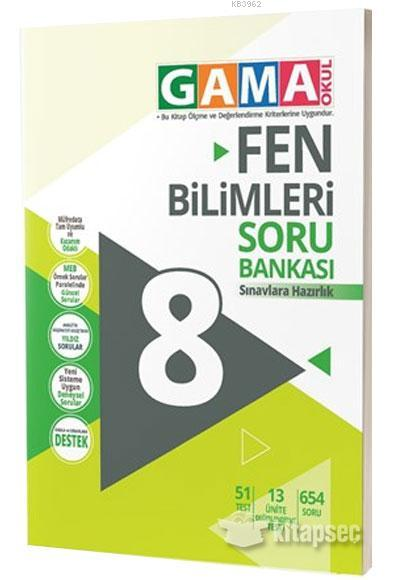 Gama 8.Sınıf Orjin Fen Bilimleri Konu Özetli Etkinlikli Soru Bankası